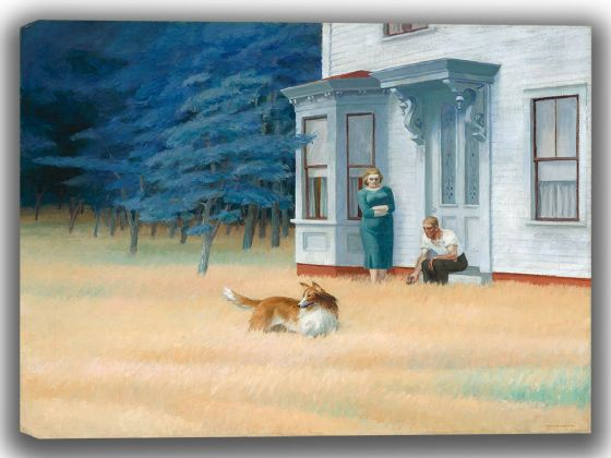 Hopper, Edward: Cape Cod Evening. Fine Art Canvas. Sizes: A4/A3/A2/A1 (004183)